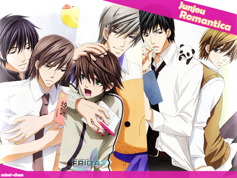 Смотреть Онлайн Чистая романтика 1,2 сезон + OVA / Junjou Romantica 1,2 + OVA
