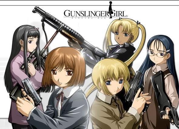 Смотреть Онлайн Gunslinger Girl / Школа убийц русская озвучка